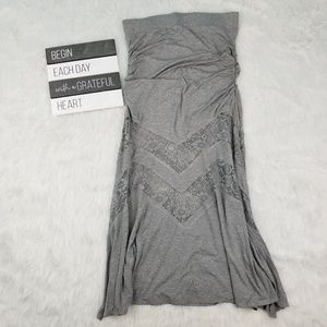 Torrid grey LACE INSET MAXI SKIRT 1 A new